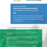 Growing need for advocacy knowledge and skills in prevention science and practice