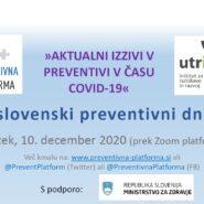 """9. slovenski preventivni dnevi """"»AKTUALNI IZZIVI V PREVENTIVI V ČASU COVID-19« (dodana gradiva iz dogodka)"""